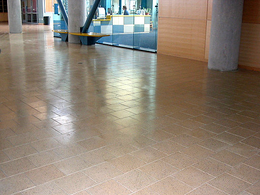 Pavers for interior lobby